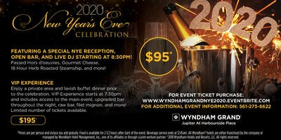 2020 New Year's Eve at the Wyndham Grand Jupiter!