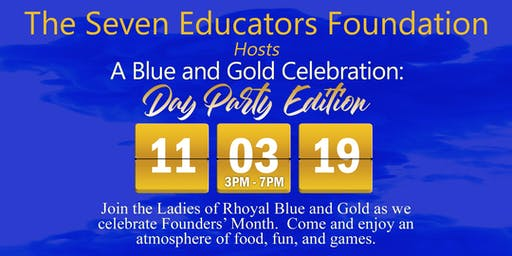 Blue and Gold Celebration  Day Party Edition