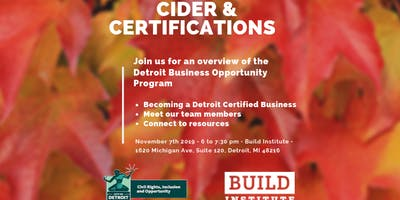 Cider and Certifications