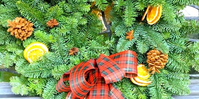 Fresh Christmas Door Wreath Workshop near Southampton