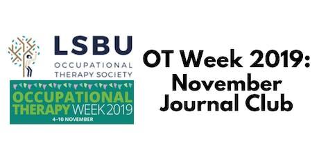OT Week: November Journal Club tickets