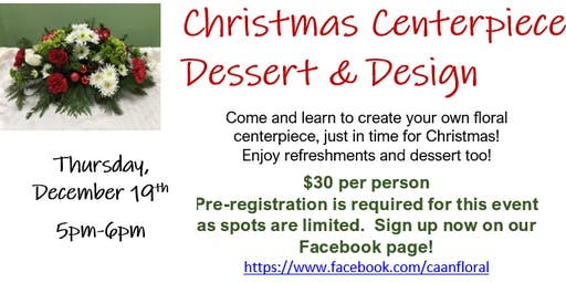 Christmas Centerpiece Dessert and Design