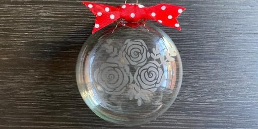 Make Something Saturday: Etched Glass Ornaments