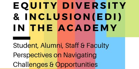 Equity, Inclusion, & Diversity (EDI) in the Canadian Academy tickets