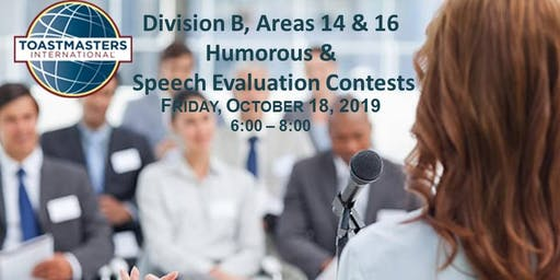 Toastmasters D37 Areas 14 & 16 Humorous & Evaluation Contests