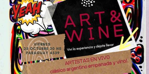 Arte + Vino --Art Wine-- En Artfactory Beer Garden
