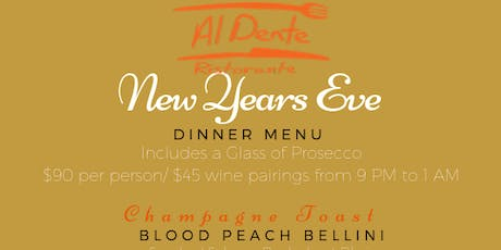NYE Dinner at Al Dente tickets