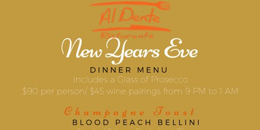NYE Dinner at Al Dente