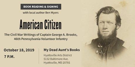 American Citizen: book reading with Hyattsville author Ben Myers tickets