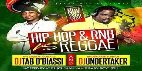 Hip-Hop & RNB vs Reggae tickets