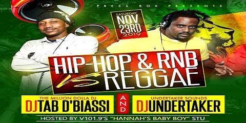 Hip-Hop & RNB vs Reggae