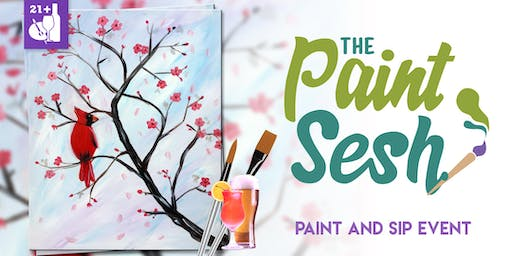 """Paint Night in Downtown Riverside, CA – """"Winter is Here"""""""