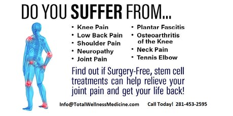 FREE Joint and Pain Relief Seminar in Katy tickets