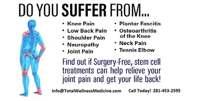 FREE Joint and Pain Relief Seminar in Katy