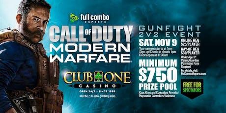Call of Duty MW: Gunfight 2v2 Tournament tickets