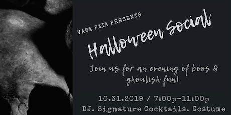 VANA Restaurant Halloween Social tickets