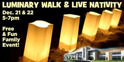 Luminary Hike and Live Nativity - Saturday 21st/ Sunday 22nd