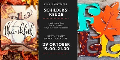 Herfst - Fall Paint Party, art-made-easy schilderworkshop, leuk voor fun
