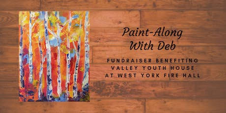 Fall Expression Birches Paint-Along Fundraiser For Valley Youth House tickets