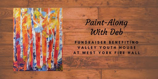Fall Expression Birches Paint-Along Fundraiser For Valley Youth House