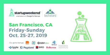 Techstars Startup Weekend San Francisco - Blockchain for Good tickets