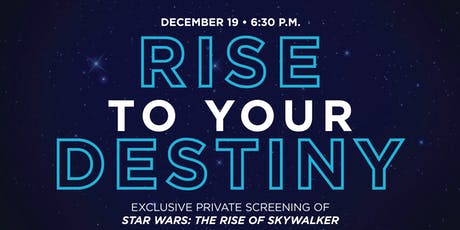 Exclusive Private Screening: Star Wars—Rise of Skywalker tickets