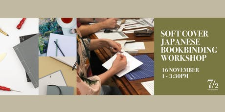 Soft Cover Japanese Book Binding Workshop tickets