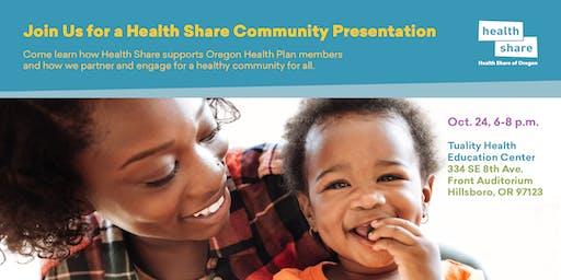 Health Share Community Presentation for Washington County