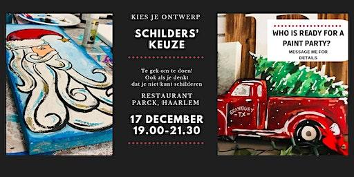 Schilder workshop DIY Kerst decoratie - ook voor beginners