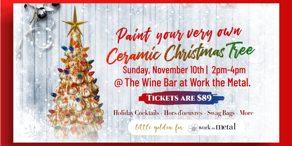 Image Christmas Tree.Paint Your Very Own Ceramic Christmas Tree At The Wine Bar