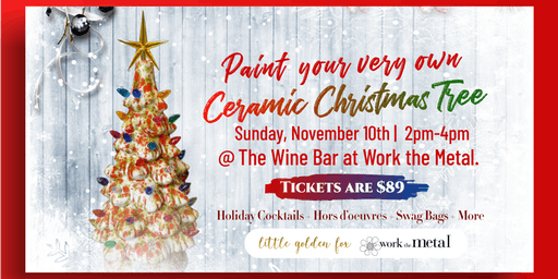 Paint your very own Ceramic Christmas Tree at The Wine Bar