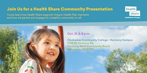 Health Share Community Presentation for Clackamas County