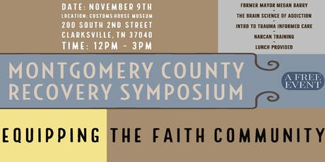 Montgomery County Recovery Symposium tickets