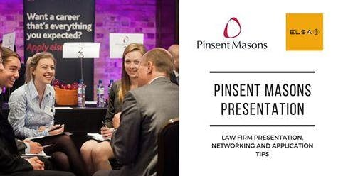 Pinsent Masons Presentation & Networking