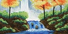 Autumn Waterfall - beginners welcome! byob/w