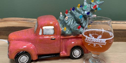 Light-Up Truck with Tree at Axe and Arrow Brewing