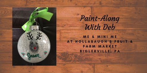 Thumbprint Ornaments Me & Mini Me - Hollabaugh Bros. Inc. Paint-Along