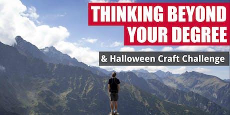 Think Beyond Your Degree + Halloween Craft Challenge tickets