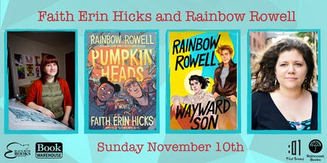 Faith Erin Hicks and Rainbow Rowell in Conversation tickets