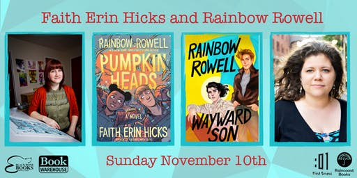 Faith Erin Hicks and Rainbow Rowell in Conversation