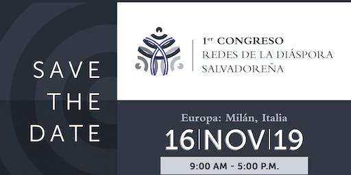 """Milán:1er. Congreso """"Redes de la Diáspora Salvadoreña"""""""