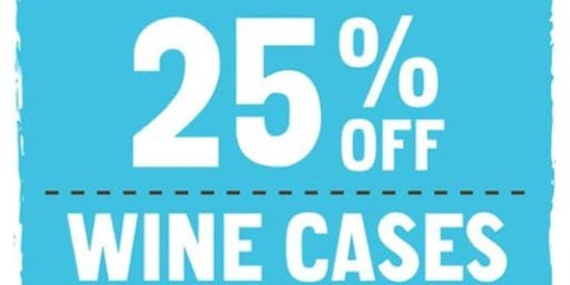 Annual 25% off Wine Sale