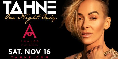 Tahne One Night Only Cinematic Concert Experience tickets