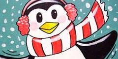 Perky Penguin - Family Paint