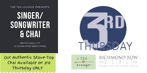Songwriter Duo & Chai - Tea Lounge 3rd Thursday Oct 17th