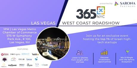 365x Roadshow in Las Vegas: Meet the top 1% of Israeli high-tech startups tickets
