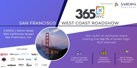 365x Roadshow in San Fran: Meet the top 1% of Israeli high-tech startups tickets
