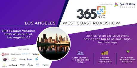 365x Roadshow in Los Angeles: Meet the top 1% of Israeli high-tech startups tickets