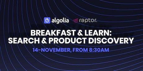 Raptor & Algolia Breakfast & Learn tickets