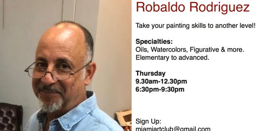 Painting & Drawing Classes with Prof. Robaldo Rodriguez